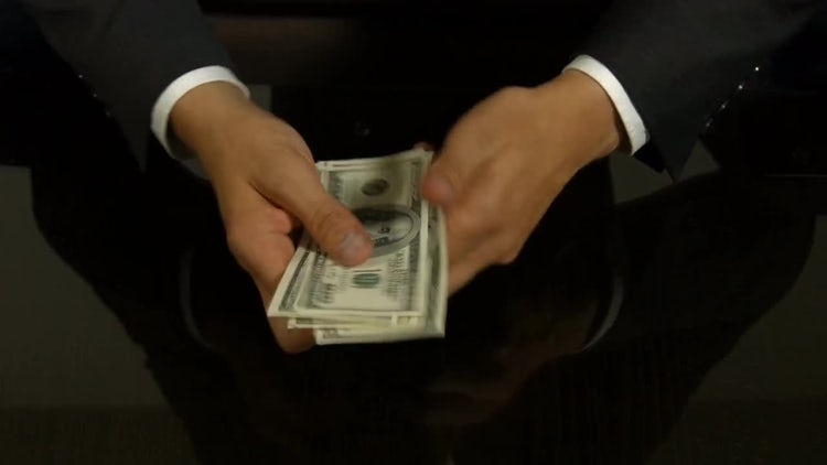 Businessman Counting Money: Stock Video