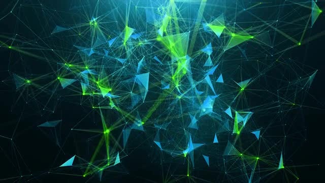 Green-blue Abstract Background: Stock Motion Graphics
