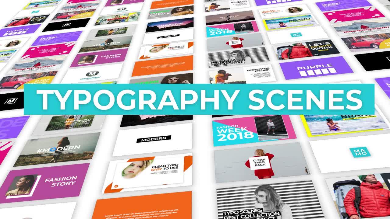 Typography Scenes Premiere Pro Templates 58160