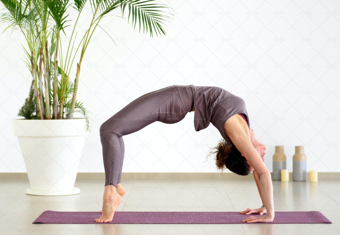 The Yoga Bridge Pose: Stock Photos