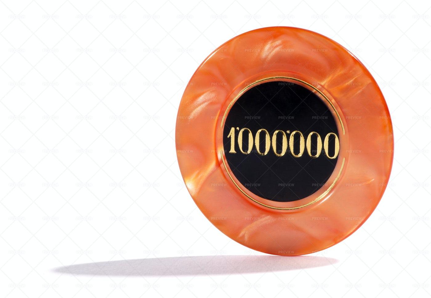 One Million Casino Chip: Stock Photos