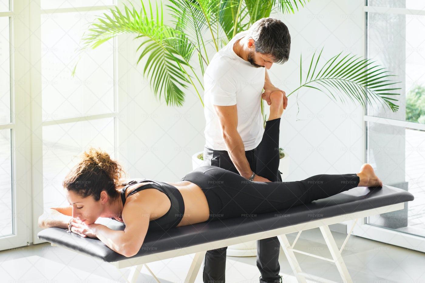 Osteopath At Work: Stock Photos