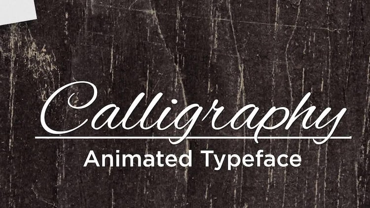 Calligraphy Animated Handwriting: After Effects Templates