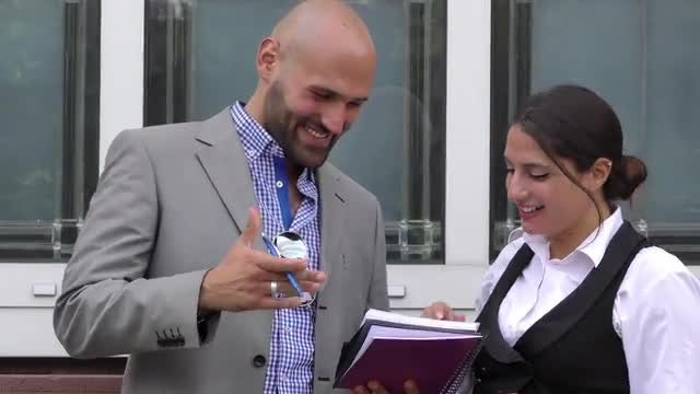Business Man And Woman Teamwork: Stock Video