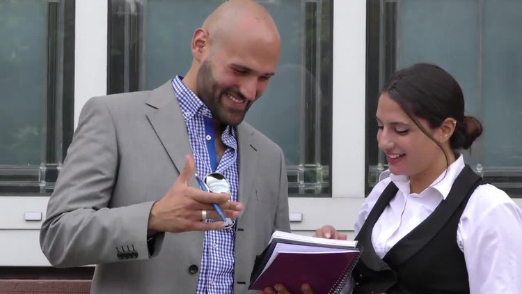 Business Man And Woman Teamwork: Stock Video