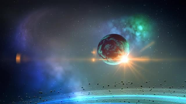 Planet In Space Loop: Stock Motion Graphics