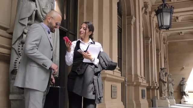 Business Man And Woman: Stock Video