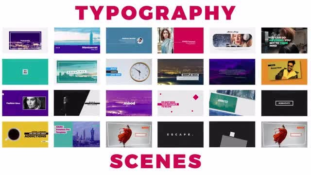 Typography: Premiere Pro Templates