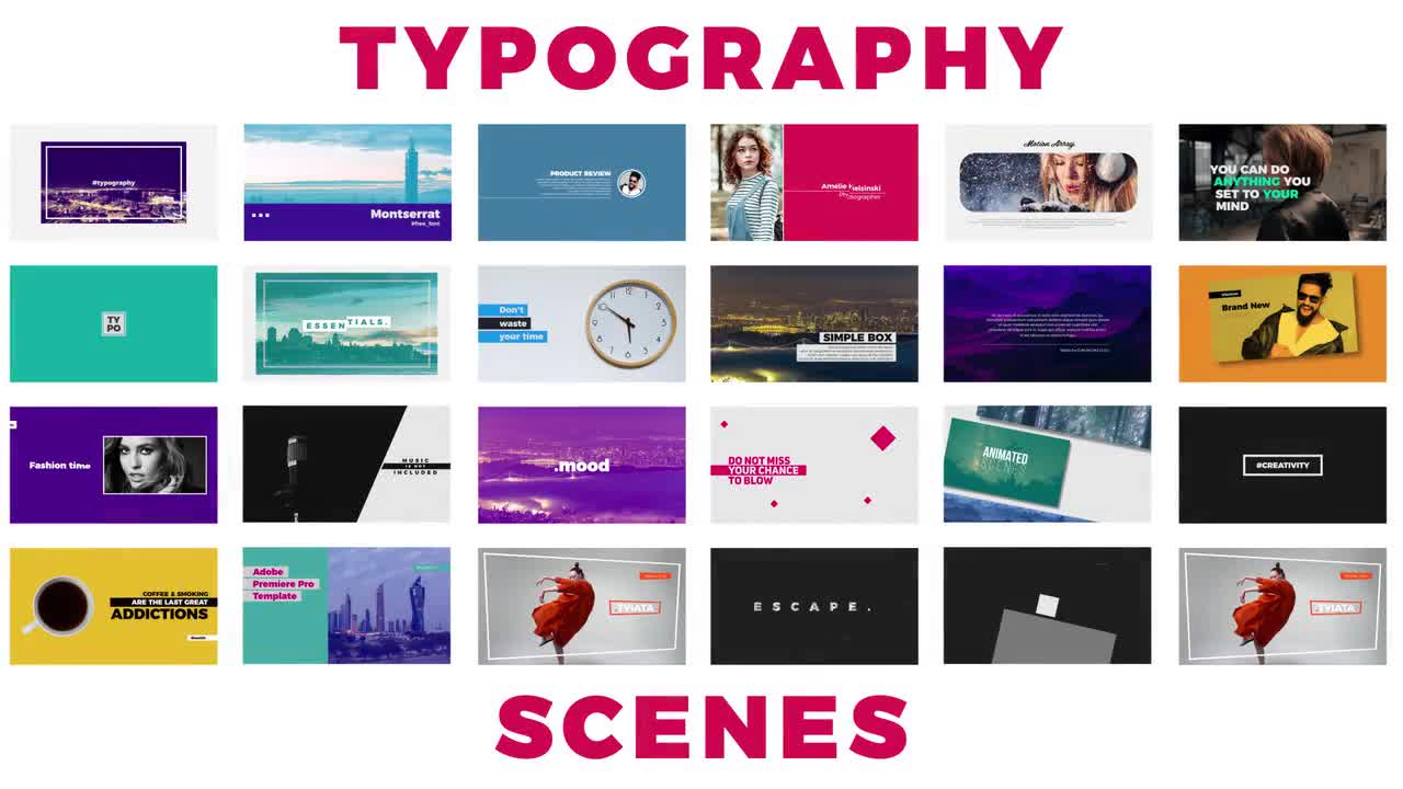 MA - Typography Premiere Pro Templates 58307