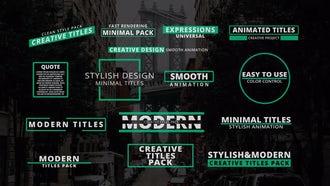 Minimal & Modern Titles: Motion Graphics Templates