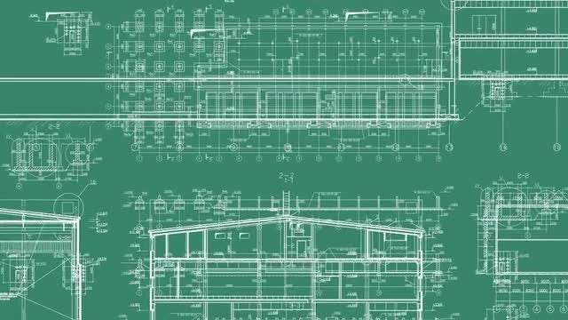 4 Construction Drawing Backgrounds: Stock Motion Graphics
