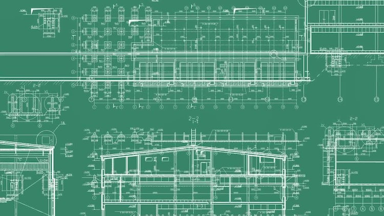 4 Construction Drawing Backgrounds: Motion Graphics