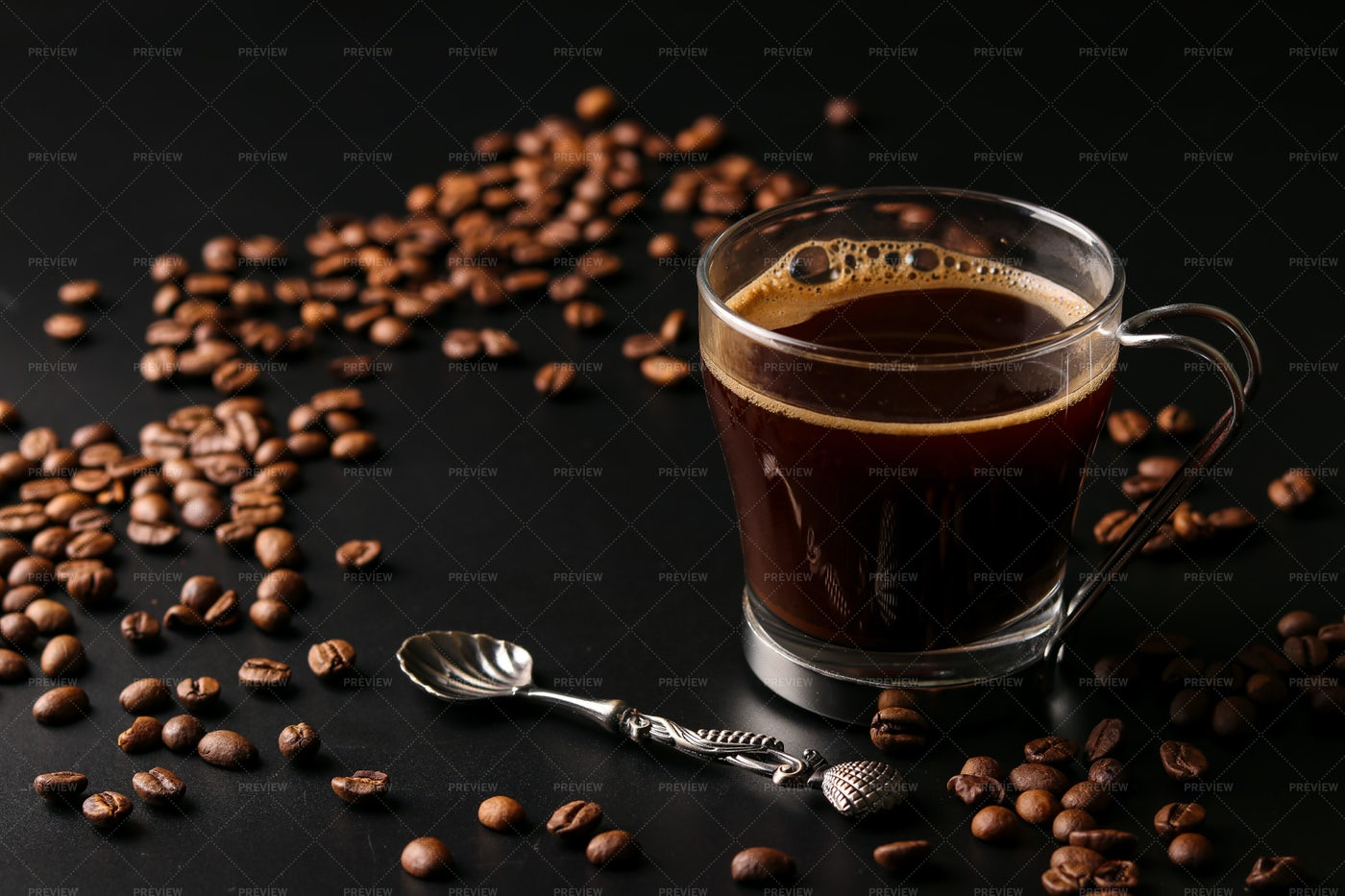 Coffee In Transparent Cup: Stock Photos