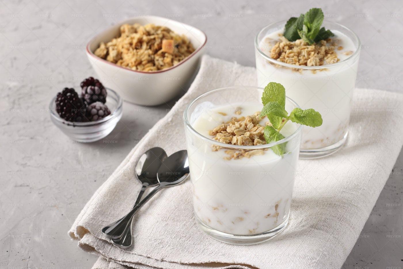 Homemade Natural Yogurt: Stock Photos