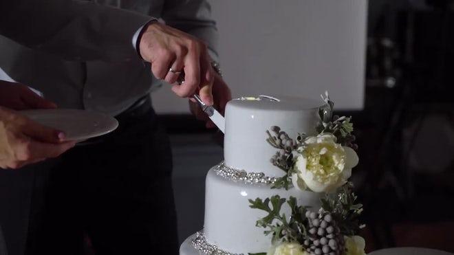Plating Wedding Cake Stock Video Motion Array