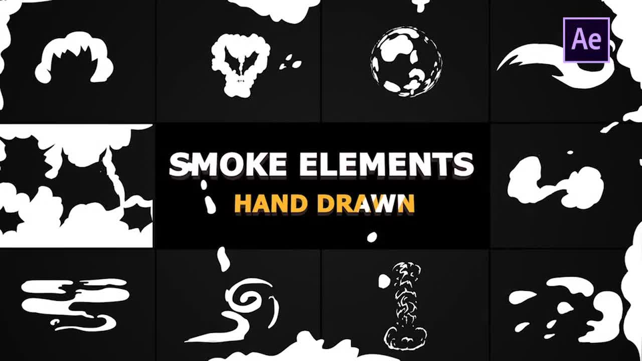 Cartoon Smoke Elements And Transitions - After Effects Templates
