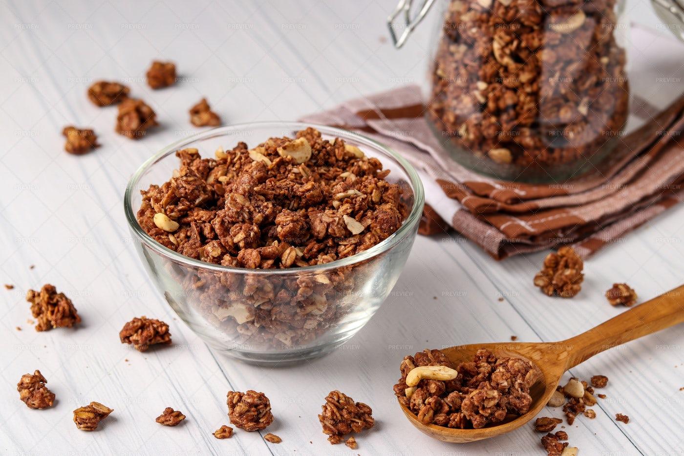 Bowl Of Crispy Muesli: Stock Photos