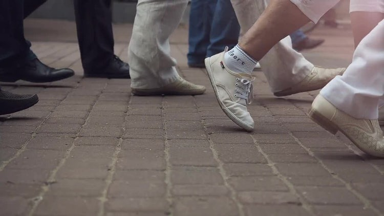 Abstract People On Street: Stock Video