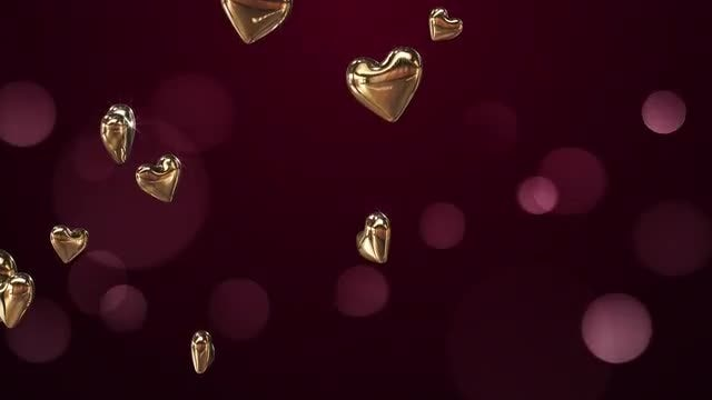 Golden Hearts: Stock Motion Graphics