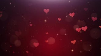 Romantic Background Of Hearts: Motion Graphics