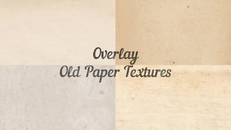 Overlay Old Paper Textures: Stock Motion Graphics