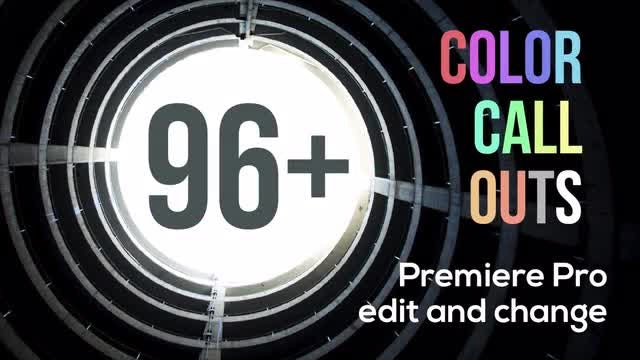 96+ Color Call Outs V2.0: Premiere Pro Templates