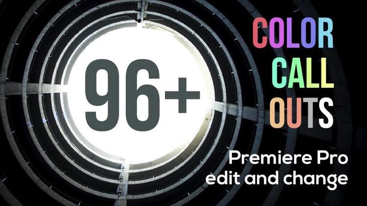 96+ Color Call Outs V2.0: Premiere Pro Templates