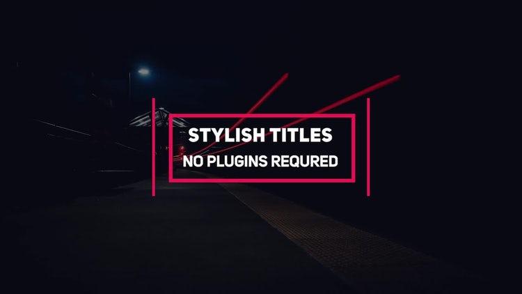 Minimal Titles Pack: Premiere Pro Templates