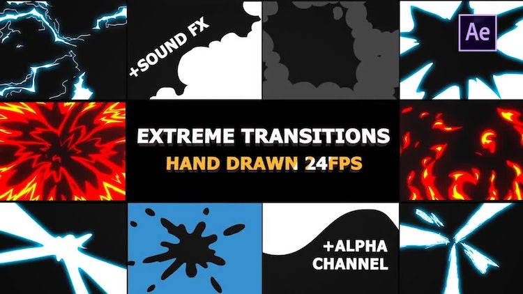 Flash FX Extreme Transitions: After Effects Templates