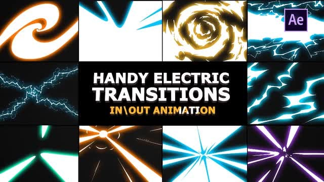 Handy Electric Transitions: After Effects Templates