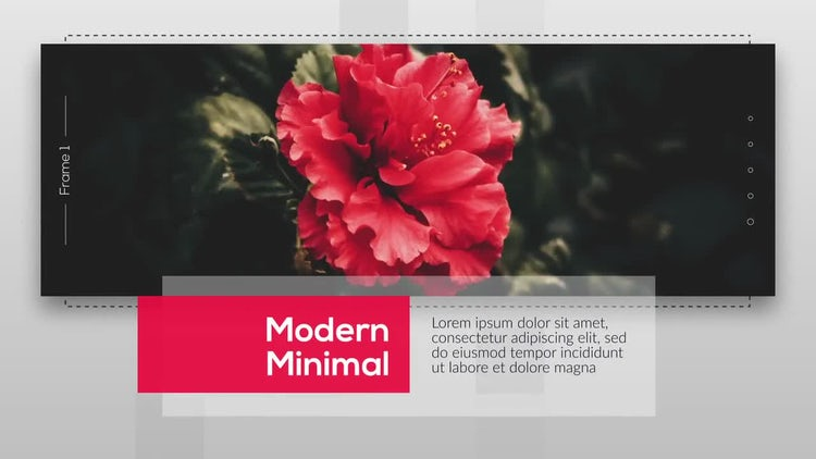 Modern Minimal Presentation: After Effects Templates