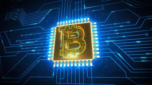 Bitcoin Currency Sign: Stock Motion Graphics