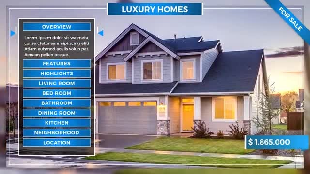 Real Estate Slideshow: After Effects Templates