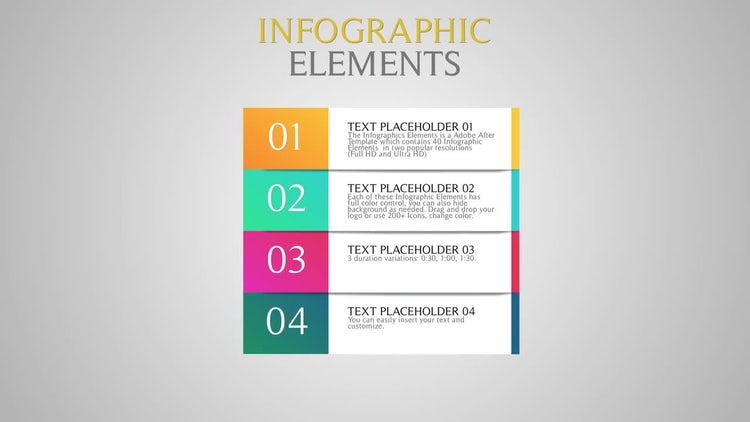 Infographic Elements: After Effects Templates