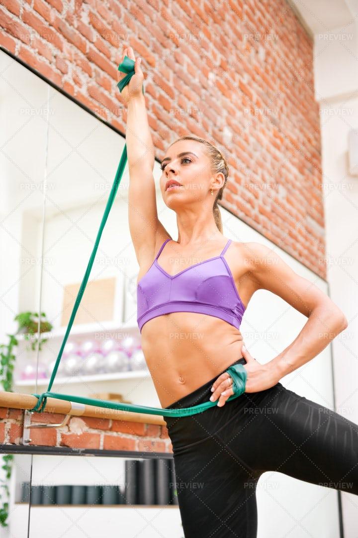 Woman Doing Arms Workout: Stock Photos