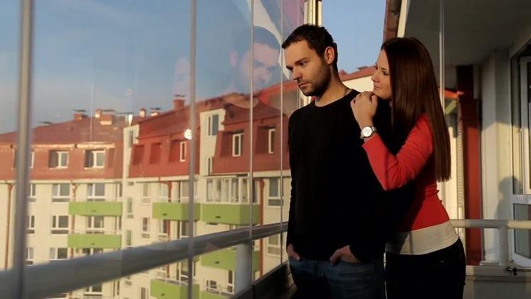 Girl Comforting Guy: Stock Video