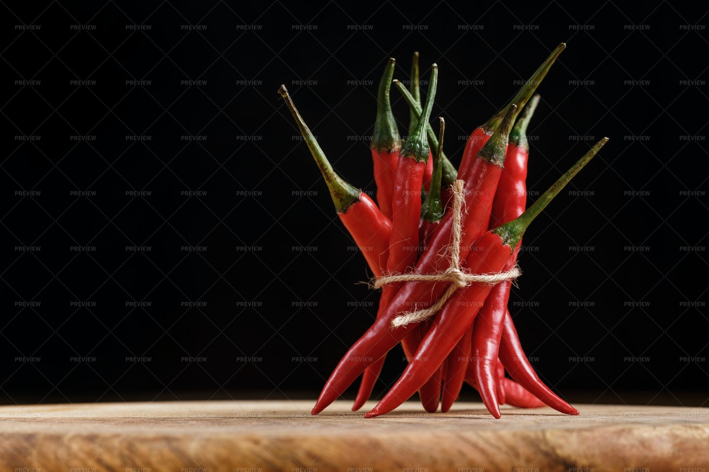 Bunch Of Red Hot Peppers: Stock Photos