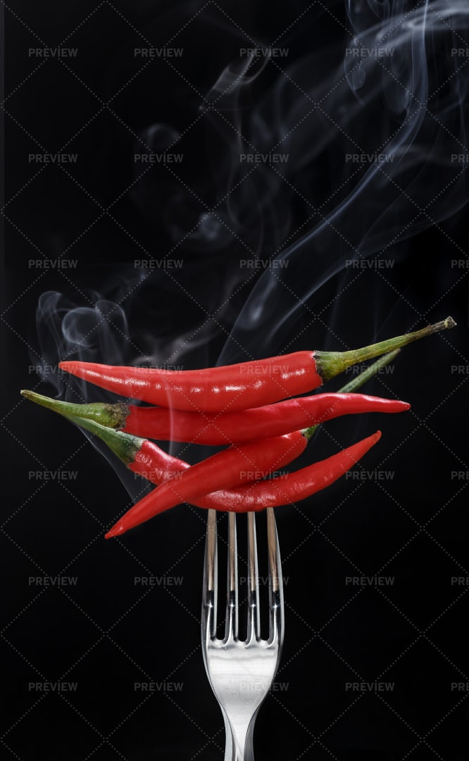 Hot Red Peppers: Stock Photos
