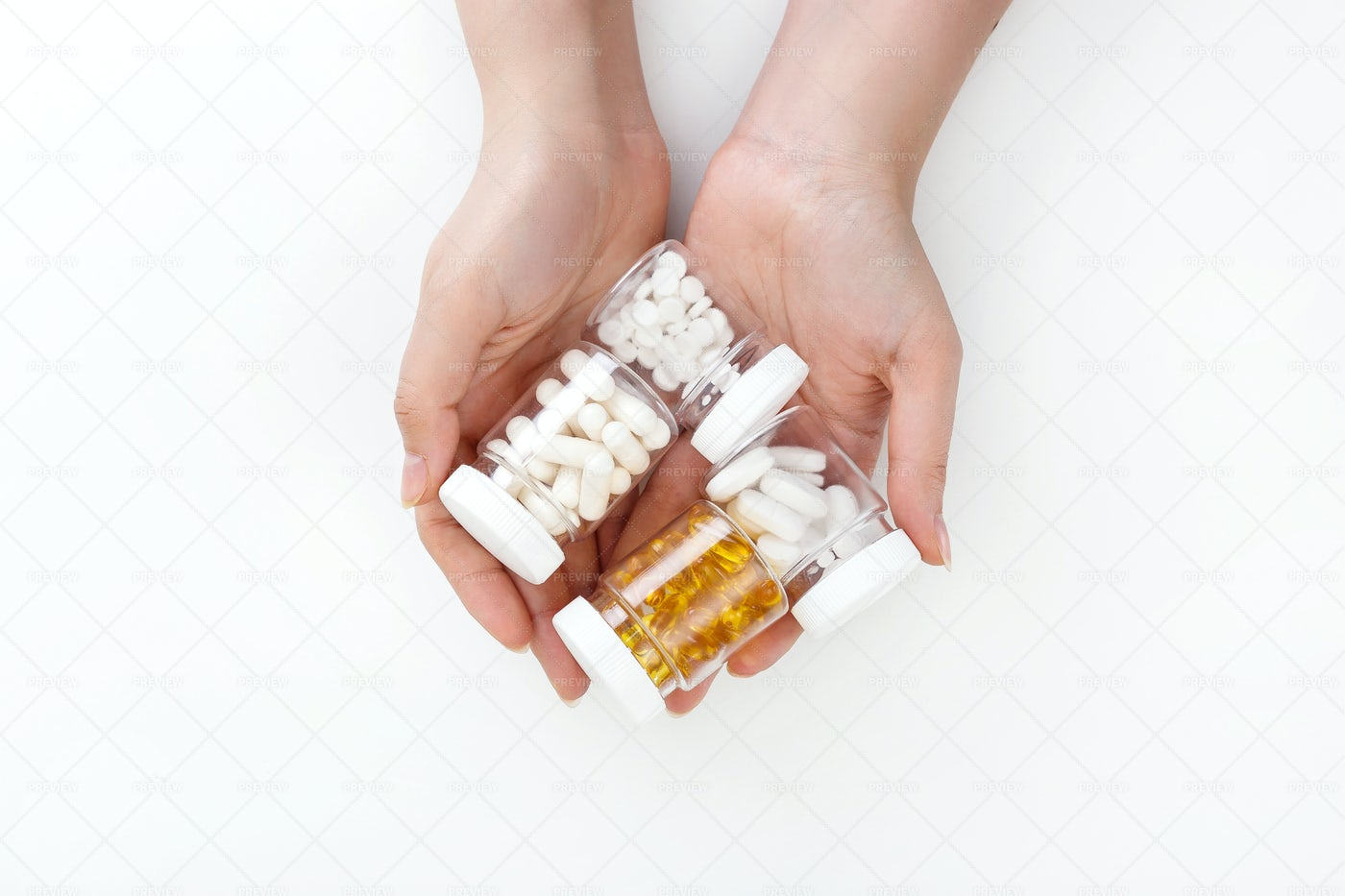Pill Containers: Stock Photos