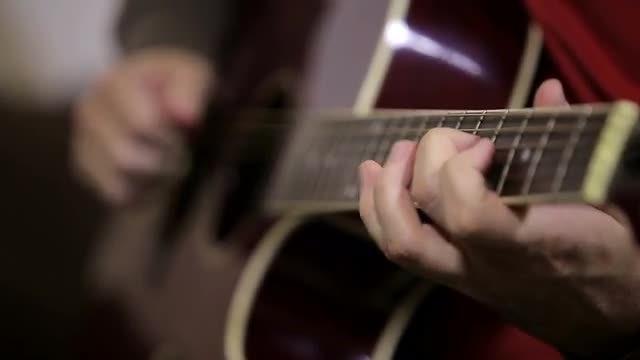 Guy Playing Guitar: Stock Video