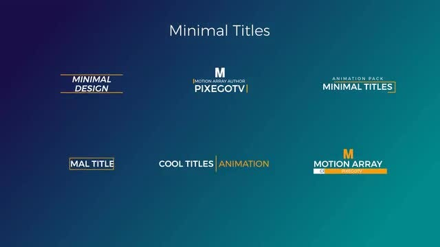 30 Motion Titles Pack: Premiere Pro Templates