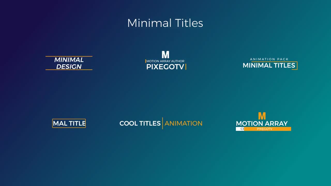 30 Motion Titles Pack Premiere Pro Templates 58654 - MotionArray