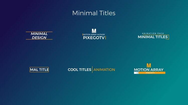 30 Motion Titles Pack: Premiere Pro Templates