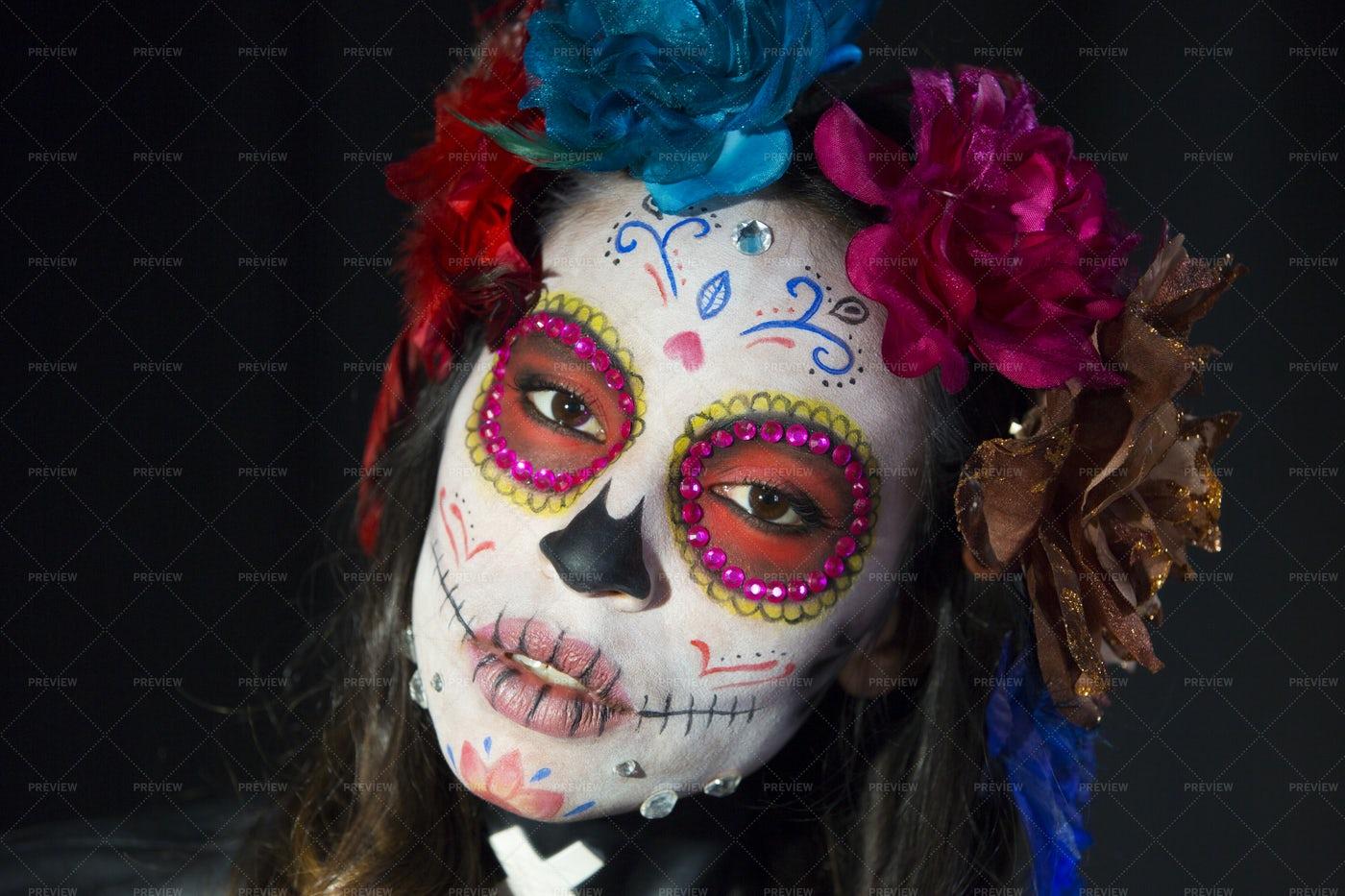 Skull Candy Make-Up: Stock Photos
