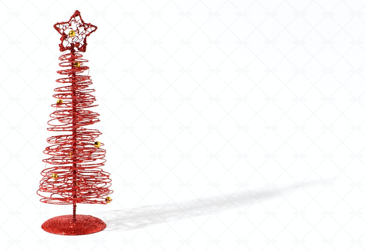 Red Christmas Tree: Stock Photos