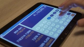 Business Calculation On Tablet: Stock Video
