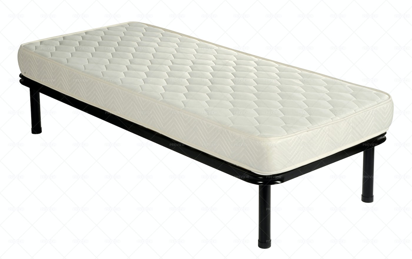 Single Bed With Mattress: Stock Photos