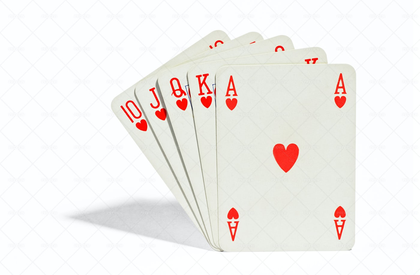 Winning Playing Cards: Stock Photos