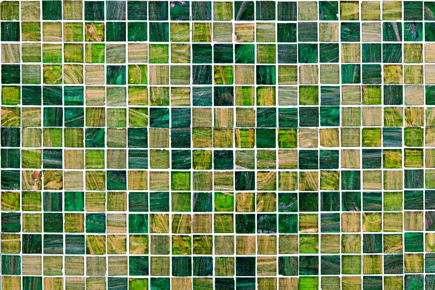 Green Mosaic Tiles: Stock Photos