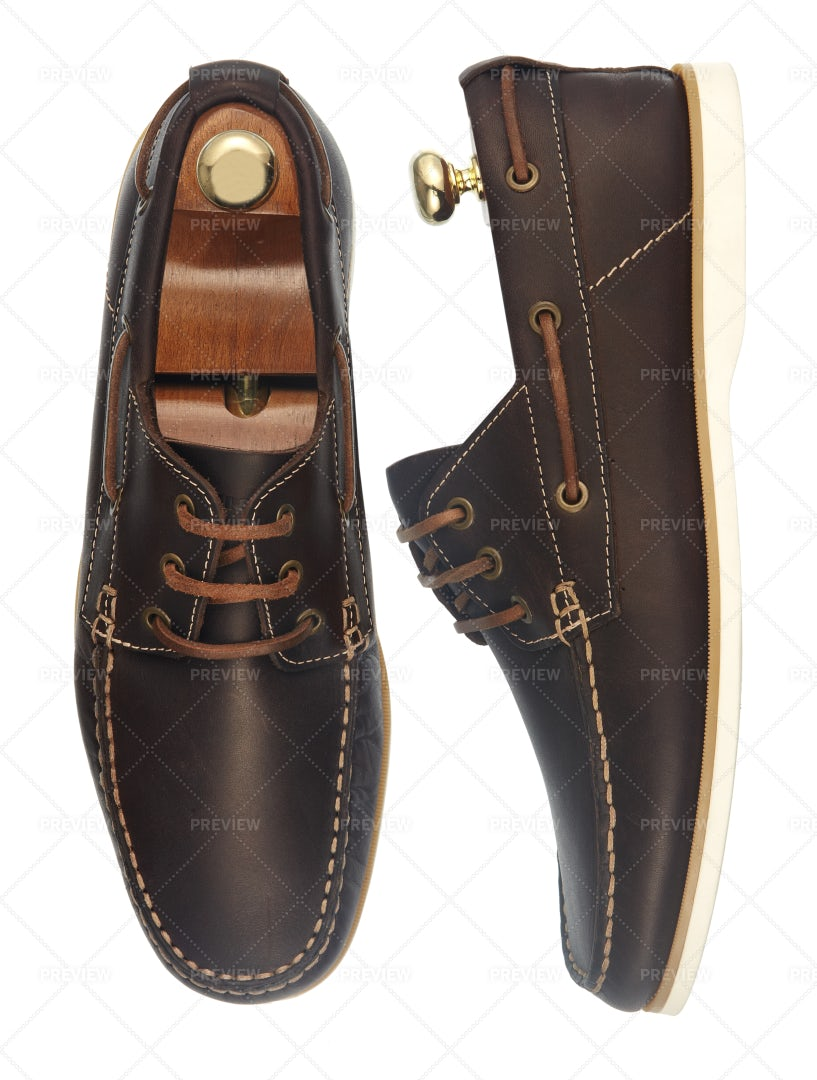 Brown Leather Shoes: Stock Photos